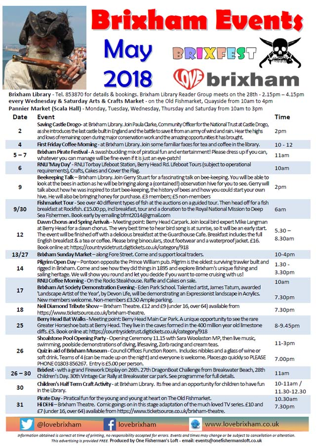 Brixham May 2018 Events