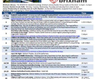 Brixham October 2018 Events