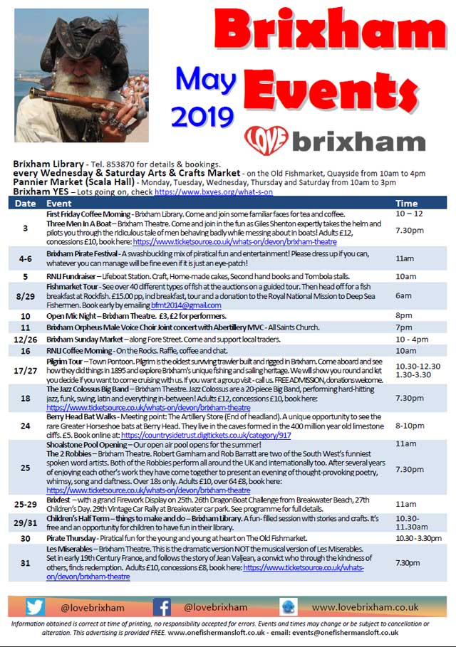 Brixham May 2019 Events