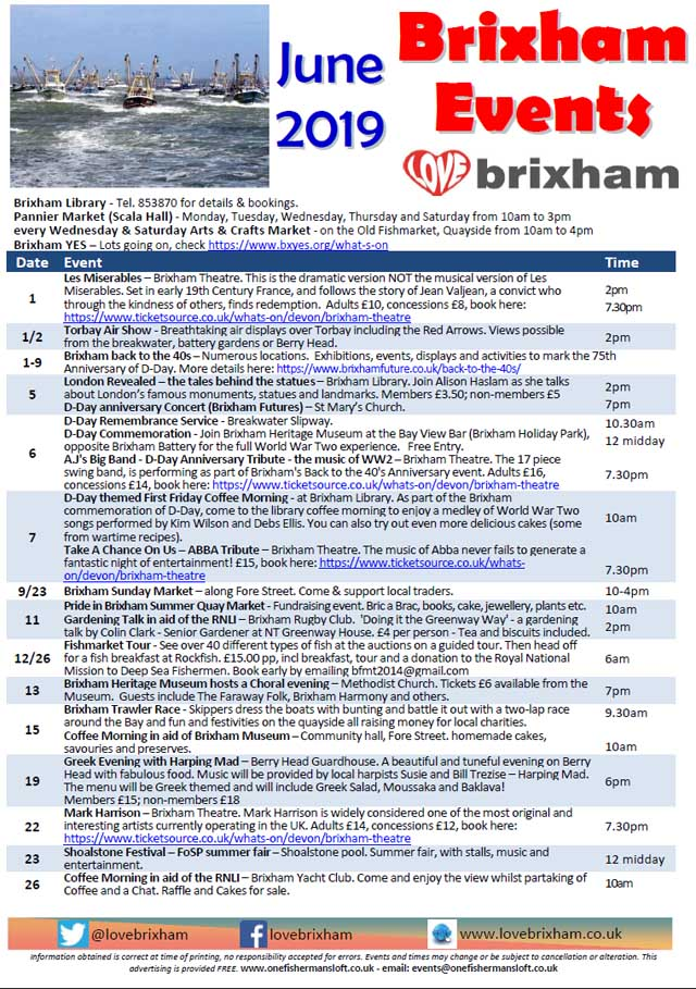 Brixham June 2019 Events