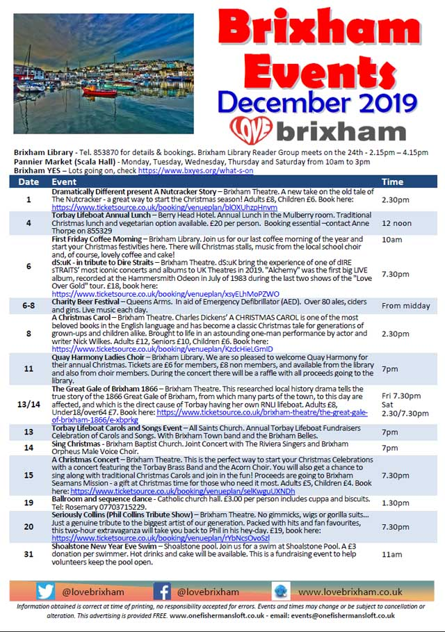 Brixham December 2019 Events