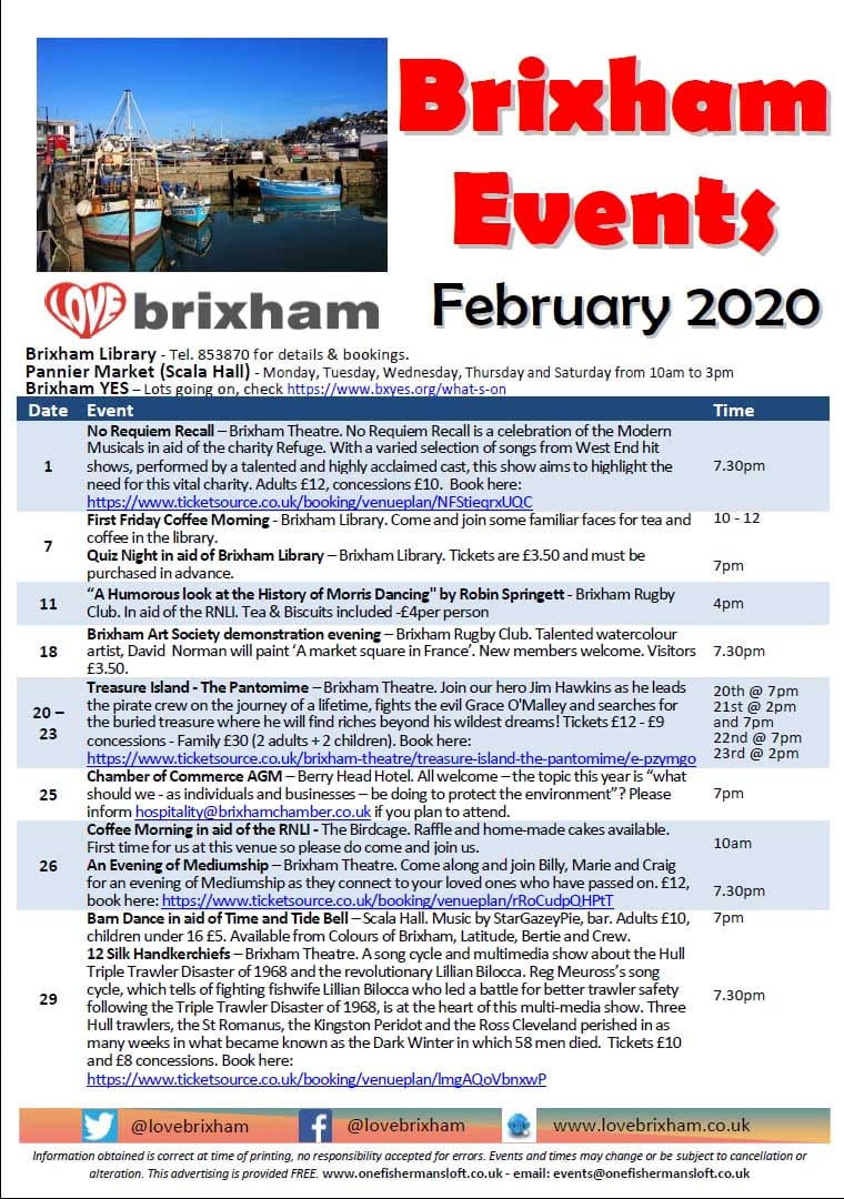 Brixham February 2020 Events